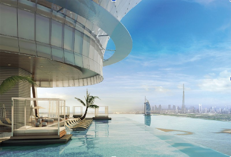 AURA SKYPOOL VIBES  AT THE PALM TOWER